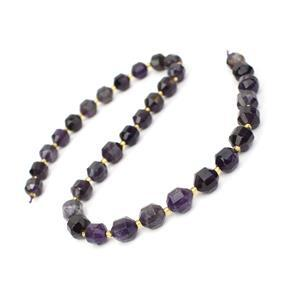 180cts Amethyst Faceted Satellite Beads Approx 9x10mm, 38cm Strand