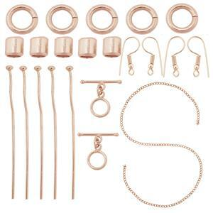 Rose Gold Plated Base Metal Essential Findings Kit (AFAZ18)