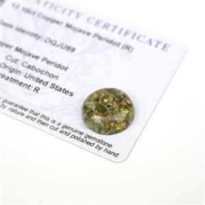 13.1cts Copper Mojave Peridot 17x17mm Round  (R)