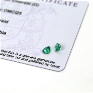 0.5cts Zambian Emerald 4x5mm Pear Pack of 2 (O)