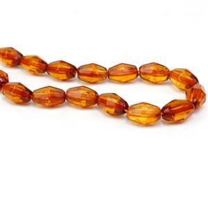 Baltic Cognac Amber Bobbi Beads Approx. 12x6mm, 20cm Strand