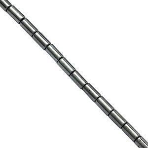 35cts Grey Haematite Smooth Tubes Approx 5x2.5mm, 40cm Strand