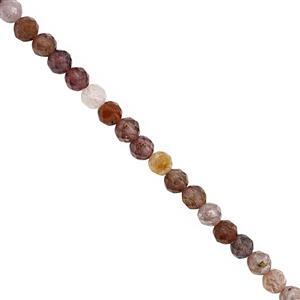 Under £10 Special Mogok 20cts Multi-Colour Spinel Faceted Round Approx 3.5mm, 20cm Strand