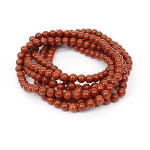450cts Red Jasper Plain Rounds Approx 6mm, 140cm