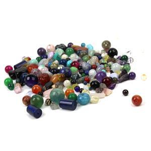 Double Trouble! 2x 1000cts Assorted Loose Beads Gemstones Mix Shapes & Sizes