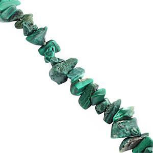 220cts Malachite Bead Nugget Approx 3.50x1.50 to 8x3mm, 80cm Strand