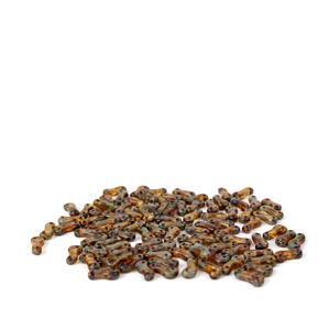 Czech Link Crystal Dark Travertin Beads Approx 2.5x9.5mm (100pcs)
