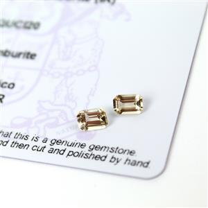 0.9cts Champagne Danburite 6x4mm Octagon Pack of 2 (I)