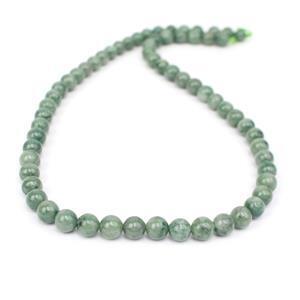 110cts Burmese Jadeite Plain Rounds Approx 6mm, 38cm