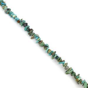 90cts Turquoise Small Nuggets Approx 4x5-4x13mm, 38cm strand