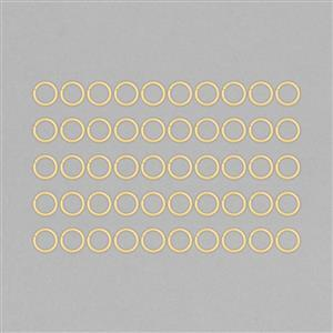 Gold Plated Copper Hollow Open Jump Rings - 16mm & Thickness 2mm (AQOK40)