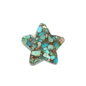 Copper Infused Turquoise Gemstone