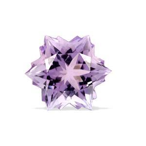 3.9cts Rose De France Amethyst 10x10mm Snowflake  (H)
