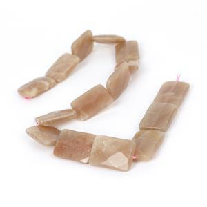 390cts Sunstone Faceted Rectangles Approx 25x18mm, 38cm Strand