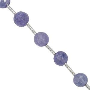 30cts Tanzanite Faceted Round Beads Approx 2.75mm to 6.5mm 20cm Strand with Spacers