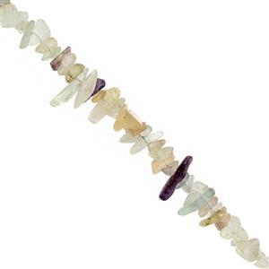 680cts Multi-Colour Fluorite Bead Nugget Approx 3x1 to 13x4mm, 100inch Strand