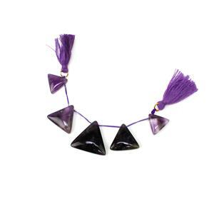 80cts Amethyst Top Drilled Triangle Approx 15mm, 20mm, 25mm, 5pc