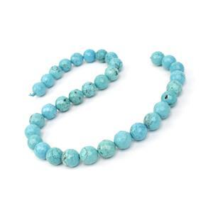 360cts Dyed Blue Magnesite Faceted Rounds Approx 12mm, 38cm Strand