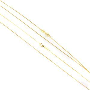 """Double Trouble! 2x Gold Plated 925 Sterling Silver Curb Chain 50cm/20"""""""