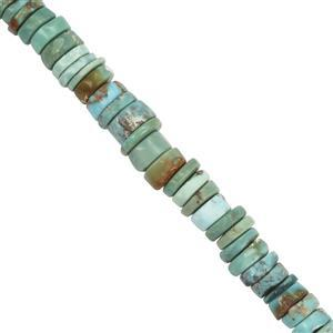 77cts Turquoise Plain Wheels Approx 4.5x1mm to 6.80x1.30mm 33cm Strand