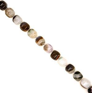970cts Multicolour Agate With Quartz 6-Side Drums, Approx 17x21mm, 38cm strand