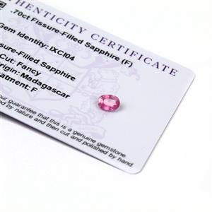 0.7cts Ilakaka Pink Sapphire 7x5mm Oval  (F)