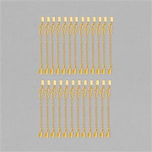 Gold Plated Copper Ribbon End Approx 12x4mm (25pcs)