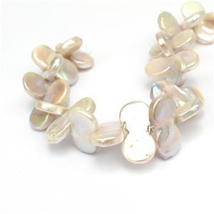 "White Freshwater Cultured ""Infinity""  Pearl  Approx 10x20mm, 20cm strand"