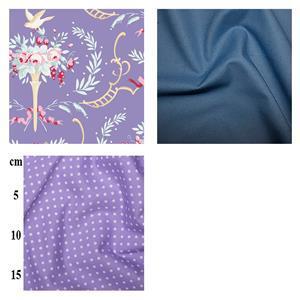 Tilda Old Rose Cosmetics Bag Fabric Bundle (1.5m)