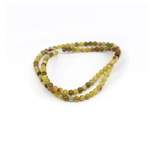 35cts Serpentine Plain Rounds Approx 4mm, 38cm Strand