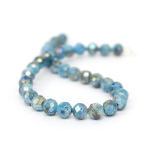 30cts Seablue Druzy Faceted Rounds Approx 6mm, 20cm