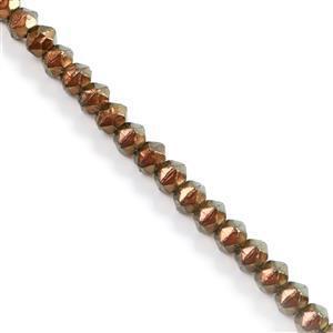 Czech Glass Antique Beads, English Cut - Transparent Oro Satin Approx 10mm (20pcs)