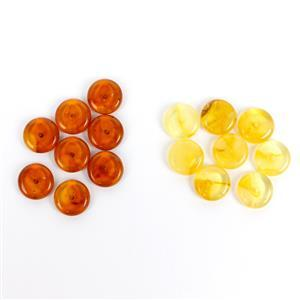 Black Friday Special! Baltic Cognac & Butterscotch Amber Disc Beads (16pcs)