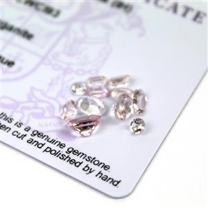 2.1cts Zambezia Morganite Pack of 12 (I)