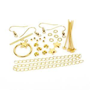Gold Plated Base Metal Star Findings Pack (28pcs)