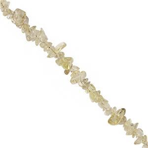 490cts Lemon Quartz Bead Nugget Approx 3x1.5 to 8x4mm, 100inch Strand