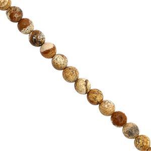 132cts Picture Jasper Faceted Round Approx 8 to 8.50mm, 30cm Strand