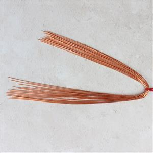"12"" Rose Gold Coloured Copper French Wire Approx 0.70mm (20pcs)"
