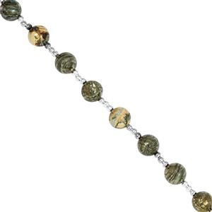 Feather Pyrite Gemstone Strand