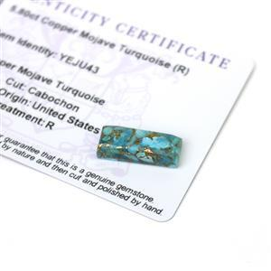 5.8cts Copper Mojave Turquoise 20x8mm Baguette  (R)