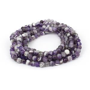450cts Banded Amethyst Round Approx 6mm,  60""