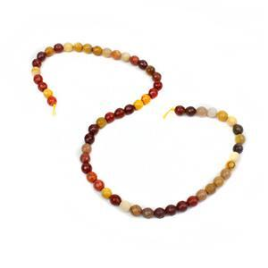 90cts Mookite Faceted Rounds Approx 6mm, 38cm Strand