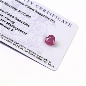 1.55cts Ilakaka Pink Sapphire 8x8mm Heart  (F)