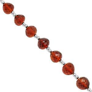 22cts Mandarin Citrine Straight Drill Graduated Faceted Onion Approx 4x4 to 6x6.5mm, 14cm Strand With Spacers.