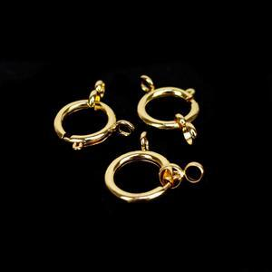 Gold Plated Bolt Ring Clasp, Approx.20mm (3pk)