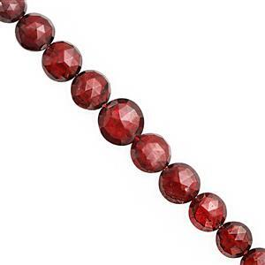 40cts Garnet Graduated Faceted Coin Approx 5 to 7mm, 20cm Strand
