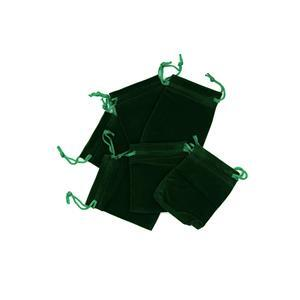 Green Velvet Pouches Approx 7x9cm (10pk)
