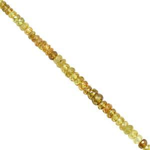 25cts Ambilobe Graduated Faceted Rondelles Approx 2.5x1 to 4.5x2.5mm, 20cm Strand