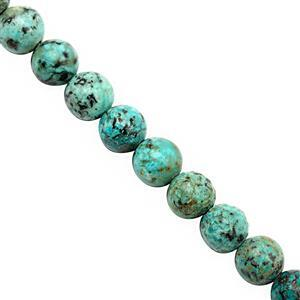 82cts African Turquoise Smooth Round Approx 7.5 to 8.5mm, 19cm Strand