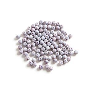 Czech RounDuo Beads, 5mm - Chalk White Teracota Copper (100pcs)